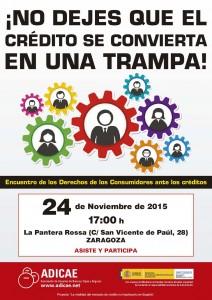 Cartel CREDITO 2015 - Encuentros - ZARAGOZA_Maquetación 1